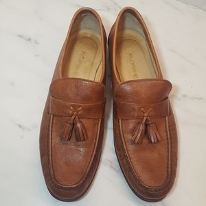 Florsheim Mens Brown Leather Moc Toe Tassel Loafer